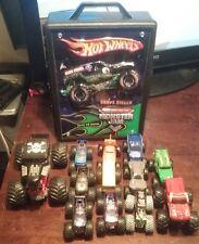 15 Hot Wheels Monster Jam Trucks case reptilian grave digger boneshaker big lot