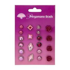PERGAMANO  Embellishments RED ROSE MIXED BRADS Set 1 PER-AC-70276-XX 20 Assorted