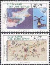 Turc de Chypre 2006 EUROPA timbres 50th/Espace/SATELLITE/cartes 2 V Set (b340c)