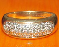 Secondhand 9ct yellow gold multi diamond (0.39ct) cluster ring size L