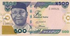 A SAISIR      BILLET     NIGERIA  500  NAIRA     2005       !!!!   NEUF     UNC