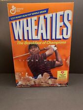 Wheaties Tiger Woods FULL Cereal Box 2002 Breakfast Of Champions Sealed Golf