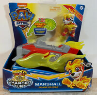 Marshall Mighty Pups CHARGED UP Paw Patrol Deluxe Vehicles Figure Lights Sound