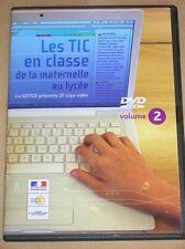 DVD ROM RARE / LES TIC DE LA MATERNELLE AU LYCEE / TRES BON ETAT