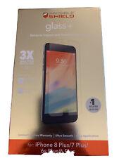 ZAGG Glass+ Screen Protector Invisible Shield Apple iPhone 8 Plus 7 Plus 6 Plus