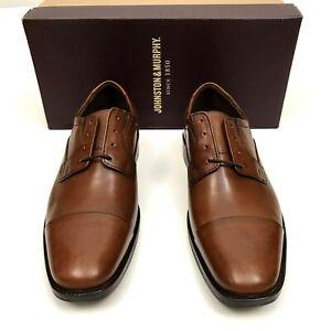 Johnston & Murphy Cap Toe Oxford Lancaster Dress Shoe Mens 8 M Brown $138 NEW