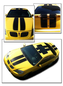 Chevrolet Cobalt & Pontiac G5 Coupe Double Rally Stripes Decals (Choose Color)