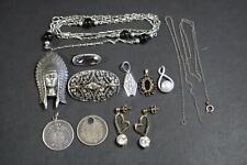 Konvolut Silberschmuck Silbermünzen 830er/835er/925er Silber  (BI5488)