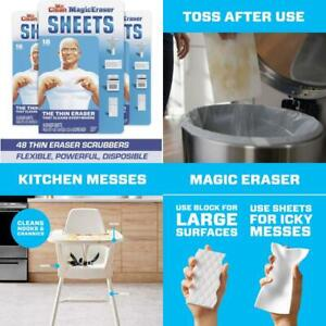 Mr. Clean Magic Eraser Sheets, Cleaning Wipes for Hard to Reach Spaces, 16 Count