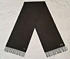 GERMANY AUTHENTIC JAMMERS & LEUFGEN BY FRAAS GRAY WOOL LONG MEN'S FRINGE SCARF