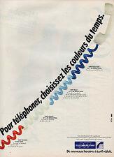 Publicité 1984  TELECOMMUNICATIONS de nouveaux horaires à tarifs réduits