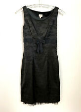 Whistles Dress UK Size 8 Black With Netting Pencil Wiggle Soft Sheen