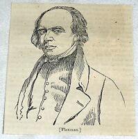 1832 small magazine engraving ~ portrait JOHN FLAXMAN