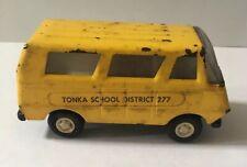 Vintage Tonka Pressed Steel School District 277 Bus Van Vehicle
