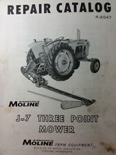 Minneapolis Moline J 7 Three Point Tractor Implement Sickle Mower Parts Manual