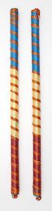 Dandiya Sticks - Wooden / Satin - Multi colour/ Hindu / Navratri