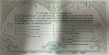COA 100 pcs of certificates for China 2013 panda 1oz silver coin ( no coin )