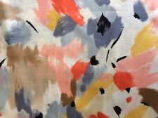 Vintage Retro Sewing Pastel Fabric Soft Linen Abstract by John Kaldor 275 X 115