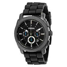 Fossil Machine Chronograph Black Dial Black Silicone Men's Watch FS4487