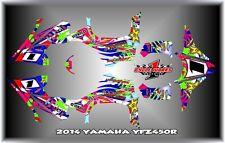 2014  YAMAHA YFZ450R  ATV   SEMI CUSTOM GRAPHICS  DECALS MAYHEM 14r WHITE
