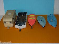 Lot caravanes Digue Henon Bateaux Rocca Norev plastique 1/43 pour pièces