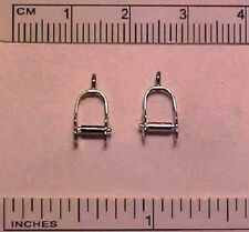 STABLEMATE COSTUME STIRRUPS in 1:32 Model Horse Scale - Silver-toned (Version 2)