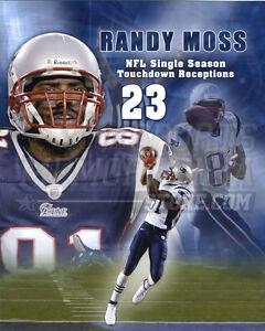 Randy Moss New England Patriots 23 touchdown record 8x10 11x14 16x20 photo 549