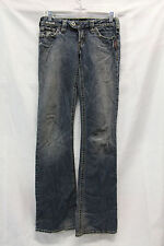 Silver Jeans Womens Tuesday Jeans Size 26/35 Dark Distressed Excellent Used Cond