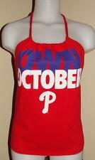 Womens Philadelphia Phillies Own October MLB Baseball Shirt Halter Top DIY