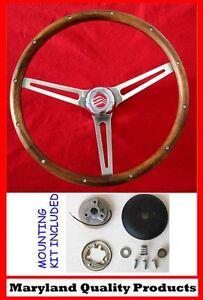 """Mercury Comet Cyclone Cougar Grant Walnut Wood Steering Wheel 15"""""""