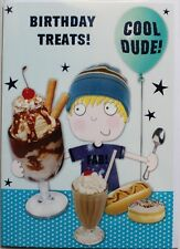 Birthday treats! card, suitable for boy or girl, any age, food theme, brand new