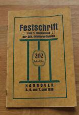 Festschrift zum 1. Divisionstag der 202. Infanterie Division Hannover Juni 1926