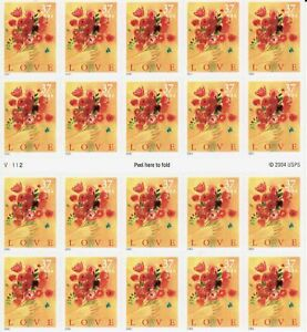 #3898a Love Bouquet full mint Sheet of 20 #3898