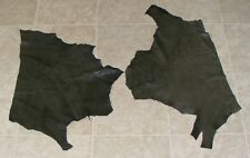 (Cce10306) 2 Hides of Very Dark Green Printed Leather Hide Skin