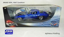 Hot Wheels 100 65 66 Chevy Corvette Drag Pro-Street Blown Gasser Coupe Blue 1/18