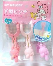 SANRIO My Melody KAWAII Laundry Pinch Clothes - Pin Peg Clip Size M 3 pieces
