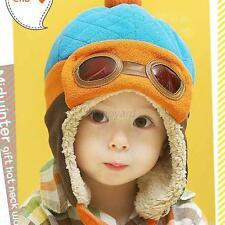Winter Toddler Child Kids Boys Girls Pilot Warm Ear Hat Baby Infant Soft Cap