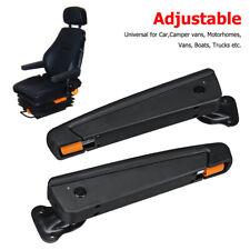 Right + Left Adjustable Seat Armrest Camper Trailer Boat Van Plastic & Leather