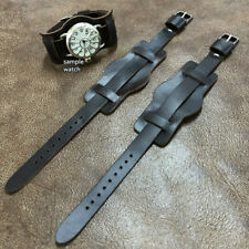 Size 10/12/14/16mm Vintage Military Style Trench Wire Lug Wrist Watch Strap#168
