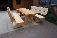 Terrassenmöbel holzbank  Rustikale Garten-Tische & Bank-Sets aus Holz | eBay