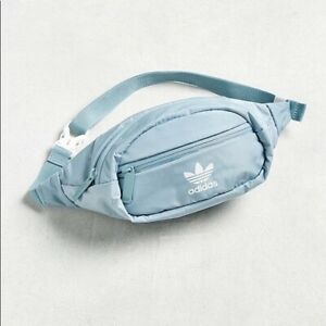 Adidas Waist Bag Fanny Pack Light Baby Blue Chest Bag Womens One Size Adjustable