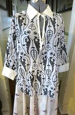 PAUL ROPP NWT COTTON BLACK & WHITE EMBROIDERED BLOUSE BEADED DETAILS LARGE