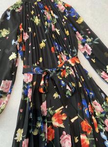 Ted Baker Sandalwood Pleated Midi Dress Size 1,2,3,4 RRP $519
