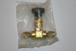 1/8 Tube Brass Screwed-Bonnet Needle Valve Swagelok Nupro  B-2JN