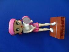 figurine collection résine betty boop joueuse de tennis 14 cm héros cartoons