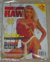 WWF MAGAZINE RAW NOVEMBER 1998 WRESTLING SABLE COVER & JACQUELINE POSTER WWE