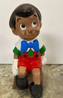 "Vtg Ceramic Pinocchio Walt Disney Productions  Mold Figurine Garden Statue 9"""