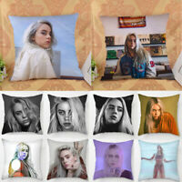 Home Decor Billie Eilish Pillowcase Car Sofa Bedroom Pillow Case Cushion Cover
