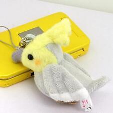 Whistle Bird Soft Stuffed Plush Doll Cell Phone Charm Strap (Cockateel/Gray)