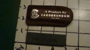 Vintage UNUSED - Carborundum Pocket Hone Tool Blade Sharpener in Leather case